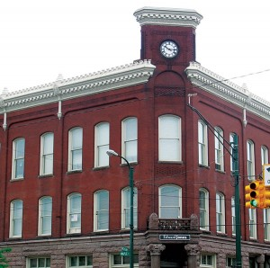 <span class='credit'>Photo By: Megan Coady | Opinions Editor</span><span class='description'>The Clock Tower: One of the most distinguishing features of the Nisbett building is the Clocktower facing the intersection of Maple St. and Michigan Ave.</span>