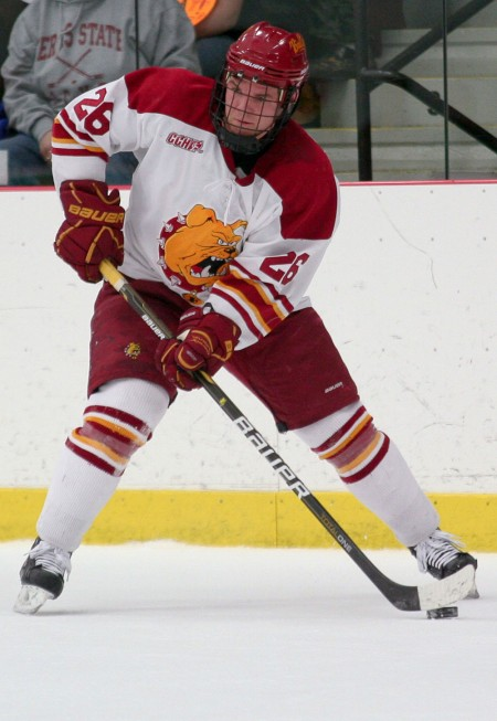 Leading Player: Mike Embach, FSU senior, leads the nation with five shorthanded goals. Photo By: Brock Copus | Photographer