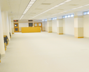 The new space in the library will soon be filled.