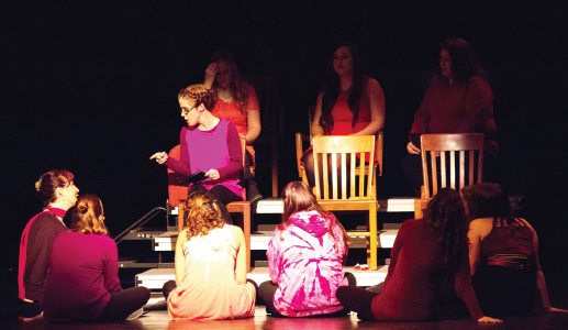 "On Feb. 19, ""The Vagina Monologues"" was brought to Ferris to spotlight issues surrounding womanhood, and to encourage open discussion about them."